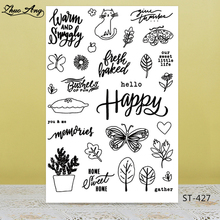 Happy Spring Transparent Silicone Stamps for DIY Scrapbooking/Photo Album Decorative Card Making Clear Supplies