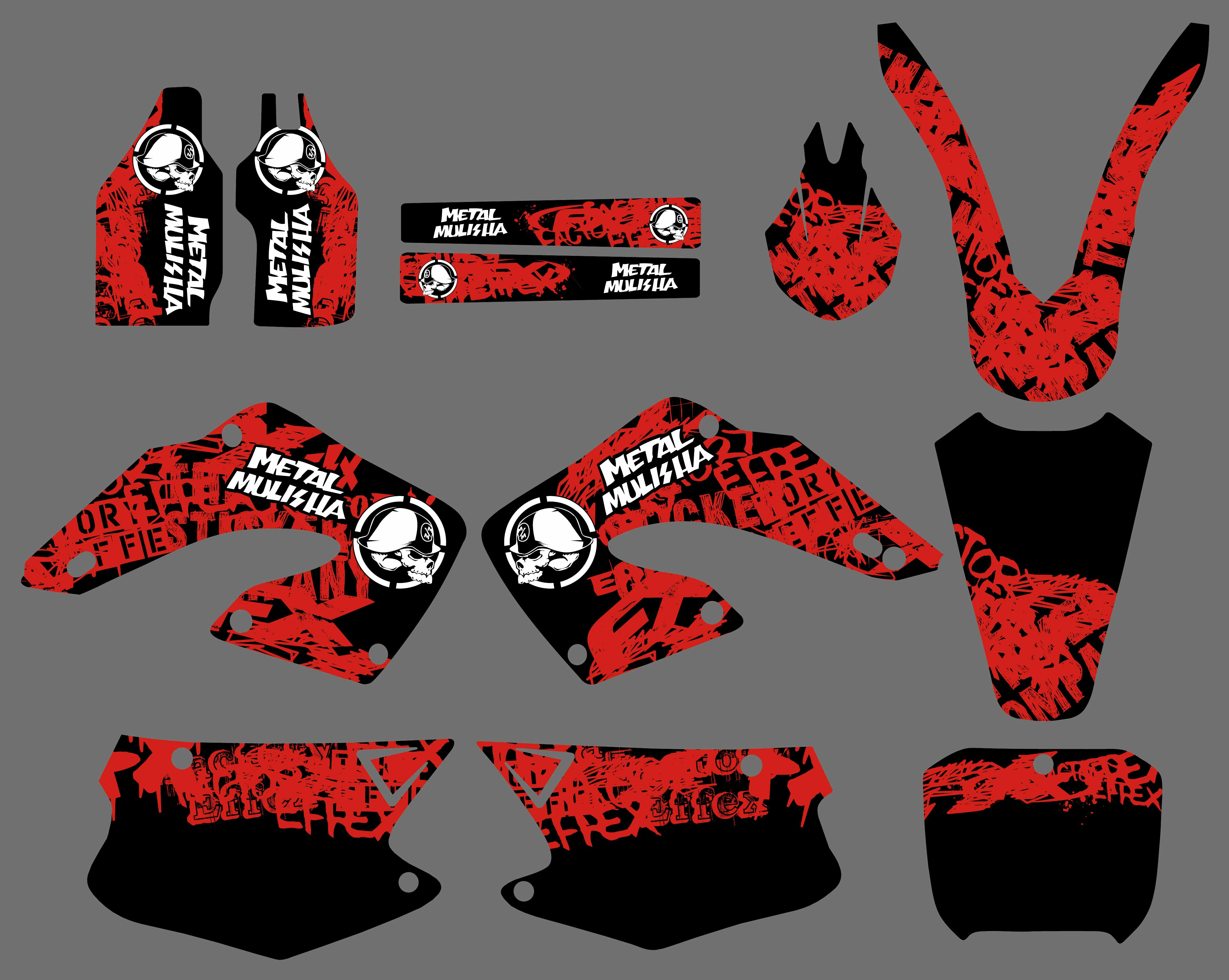 NEW STYLE TEAM DECALS STICKERS Graphics For Honda CR125R CR250R CR125 CR250 CR 125 250 125R 250R 2000 2001 цена
