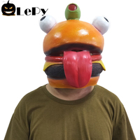 Game Battle Royale Durr Burger Cosplay Masks Long Tongue Mask Latex Full Face Helmet Women Men Halloween Gifts
