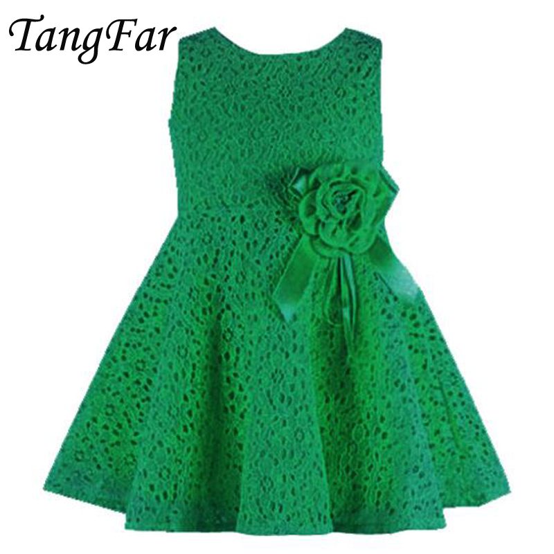 Infant Toddler Girls Delicate Lace Cake Dress Children Princess tutu Party Gown 1st Birthday Vestido Summer Clothes
