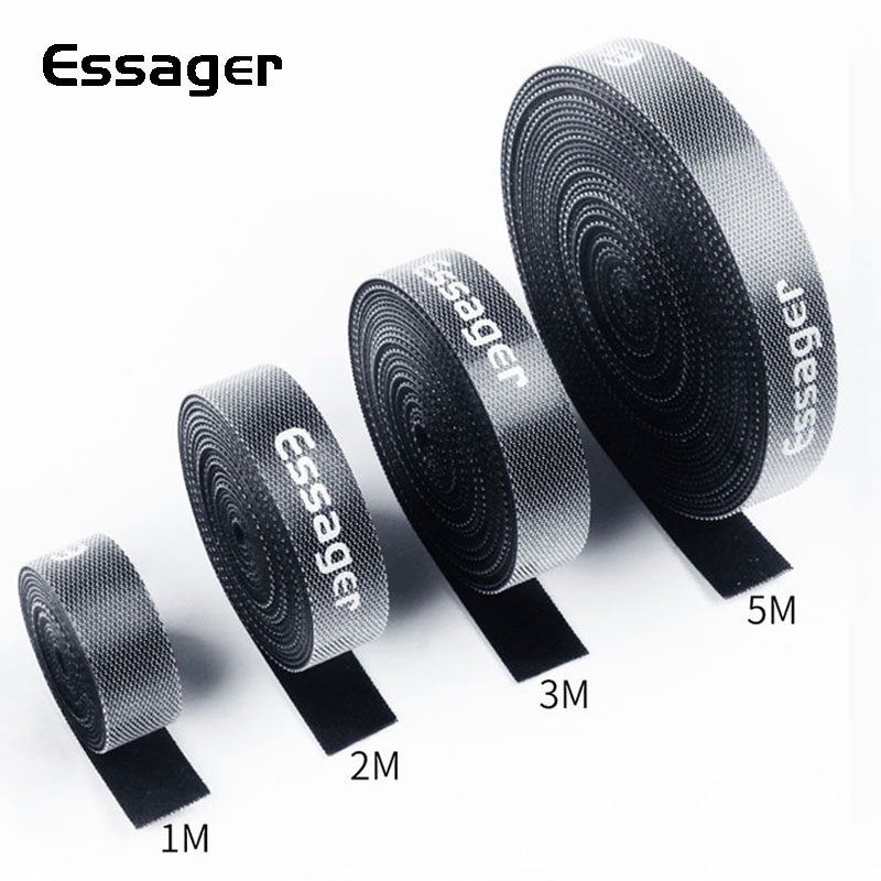 Essager Cable Organizer Earphone Holder Mouse Cord Protector HDMI Cable Wire Management for iPhone Samsung USB Cable Winder Clip туфли открытые белые betsy princess