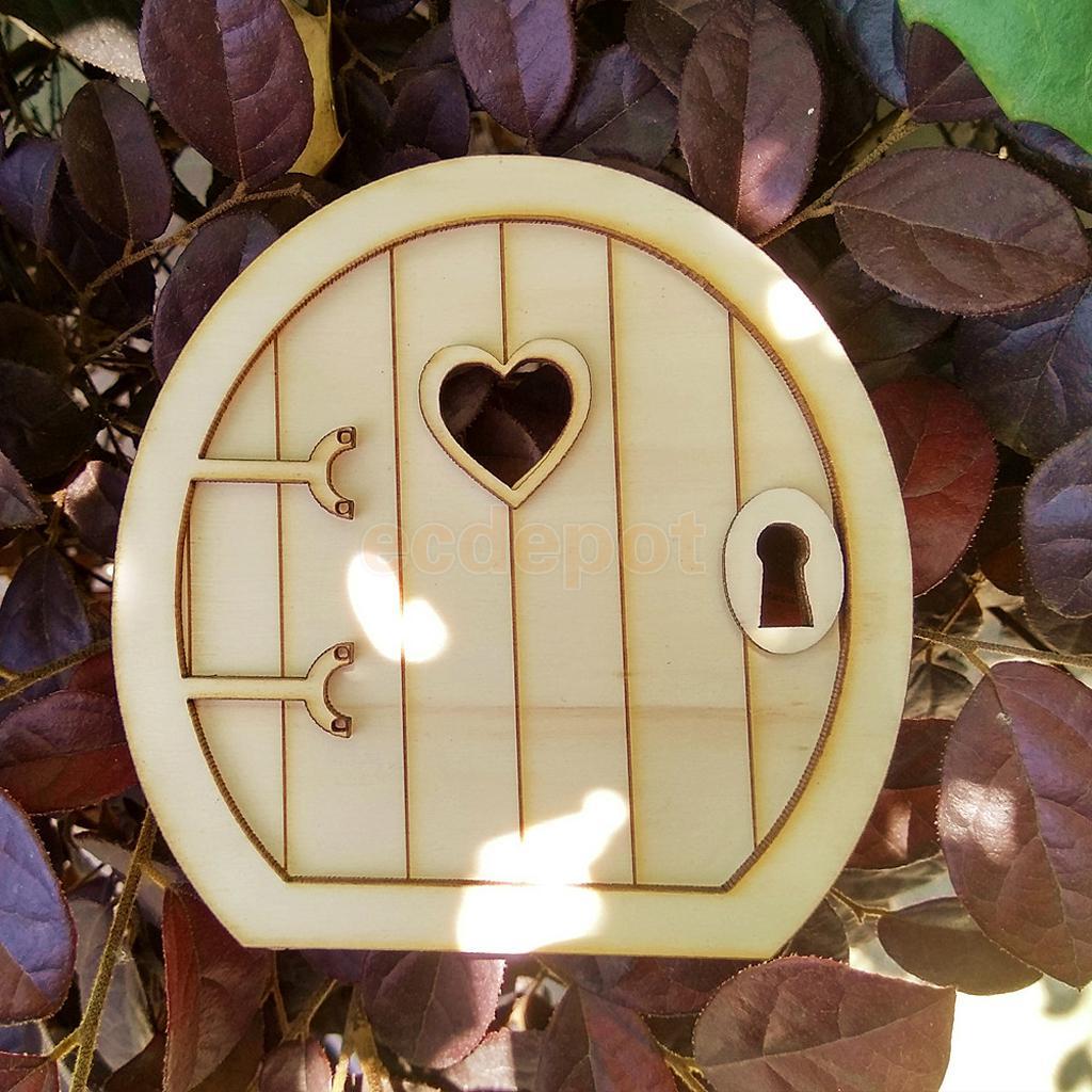 10 x Blank Wooden Fairy Door Shape Craft Embellishments Decoration DIY