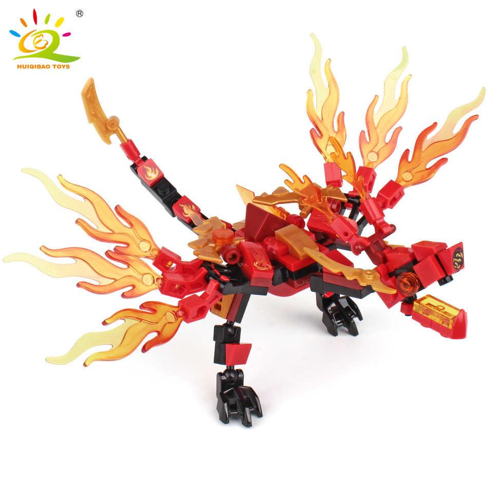 Conjunto Ninja Blocos de Construção Dragão 1 Compatível Bricks Ninja Figuras de Ação KAI JAY Iluminar Brinquedos para Crianças