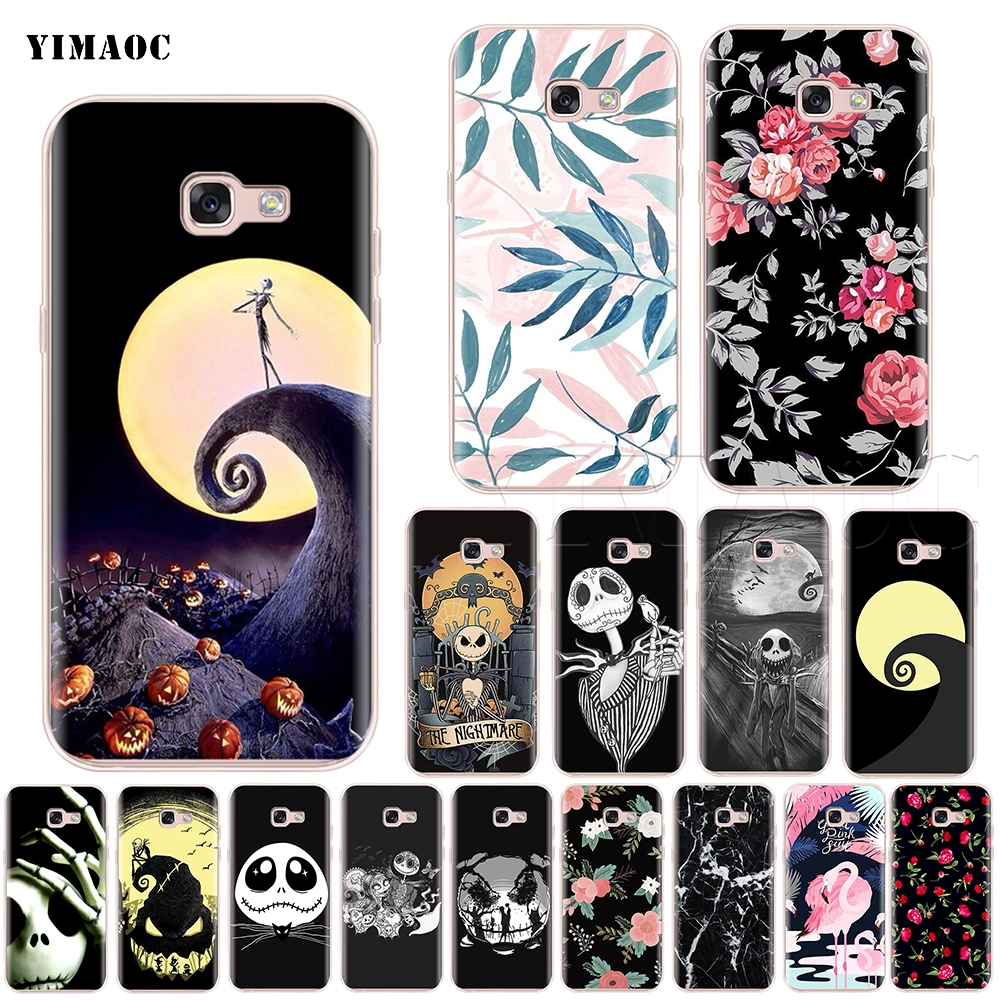 Nightmare Before Christmas Phone Case.The Nightmare Before Christmas Silicone Case For Samsung Galaxy S7 S8 S9 Edge Plus J3 J5 J7 A5 A6 A8 Note 8 9