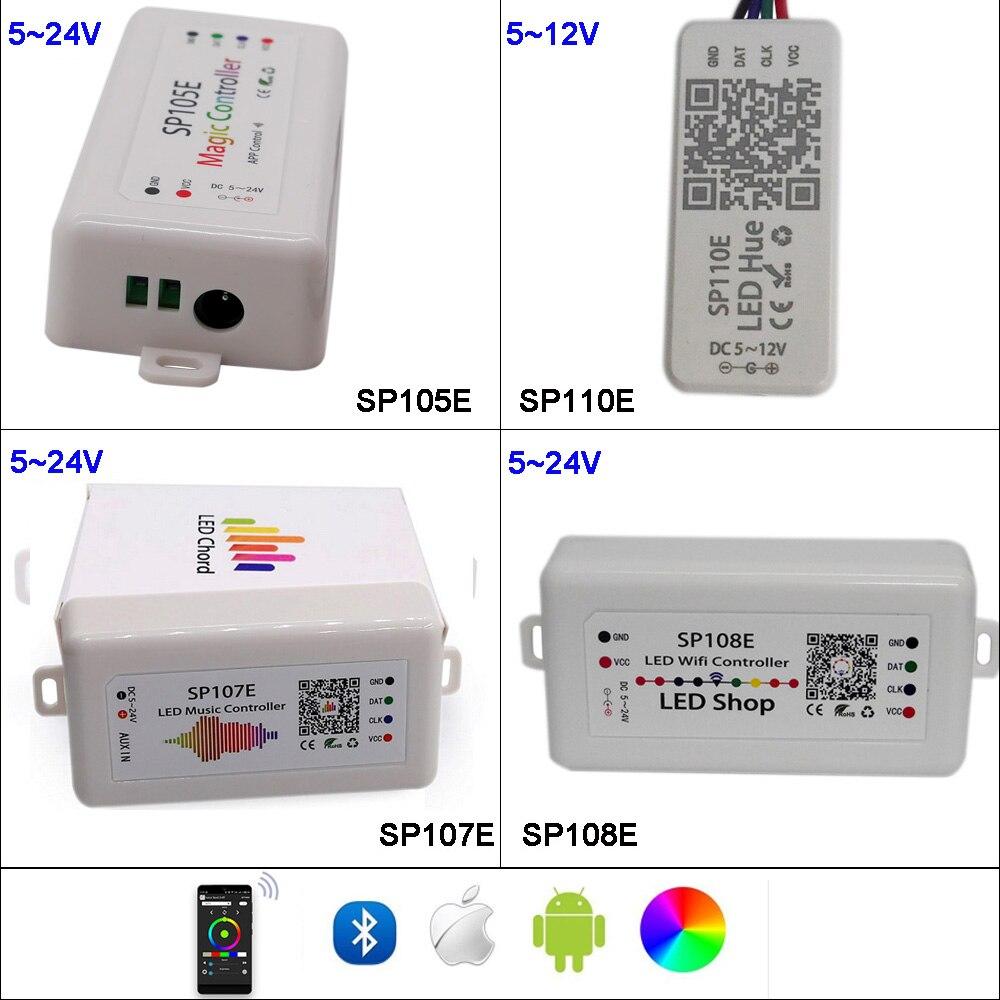 sp108e-wifi-ws2811-ws2812b-led-music-controller-sp107e-sk6812-sp105e-bluetooth-apa102-sp110e-ws2801-pixels-led-strip-dc5-24v