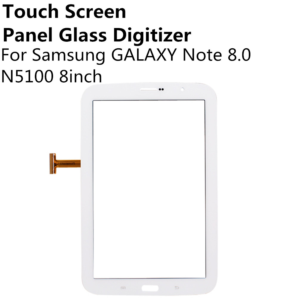 Black White Touch Screen Panel Glass Digitizer Sensor For Samsung GALAXY Note 8 0 N5100 N5110