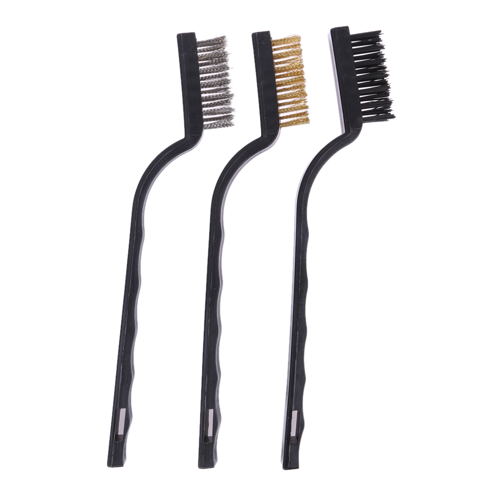 10x rotary mini tools steel wire wheel brushes cup rust cleaning - 3pcs Plastic Handle Wire Brush Set Stainless Steel Brass Wire Brush Tool Brushes Cleaning Rust Kit