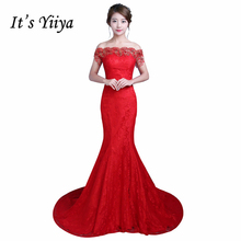 Real Photo Boat Neck Mermaid Train Wedding Dresses Cheap Red White Trailing Bride Frocks Custom Made Vestidos De Novia XXN156