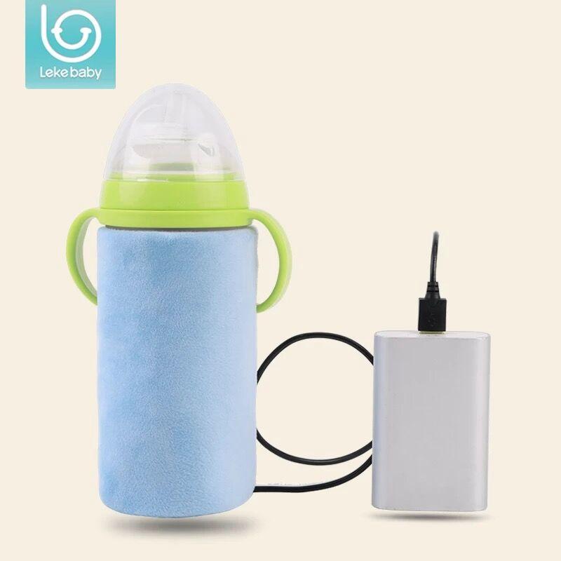 Lekebaby USB Portatile di isolamento termostato Scaldino del bambino scaldino della bottiglia del bambino bottiglia di bottiglie di borsa termica thermo bag per il bambino