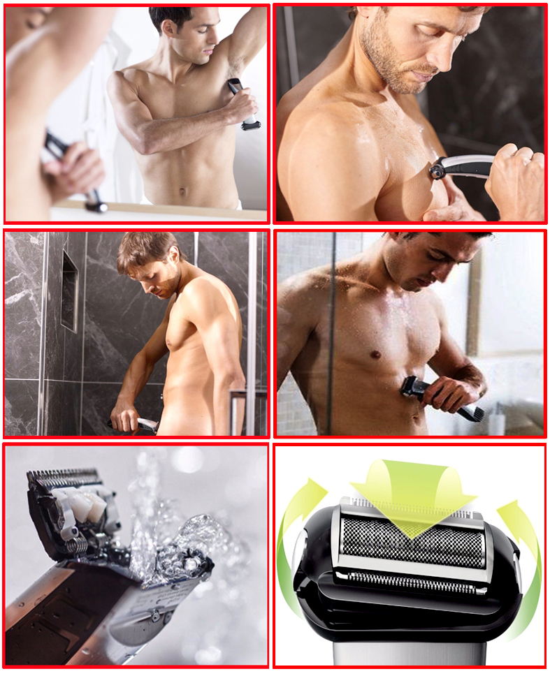 wet/dry Professional Shaver Body groomer hair trimmer clipper kit men head electric shaving trimer hair cutting machine 100-240V 3