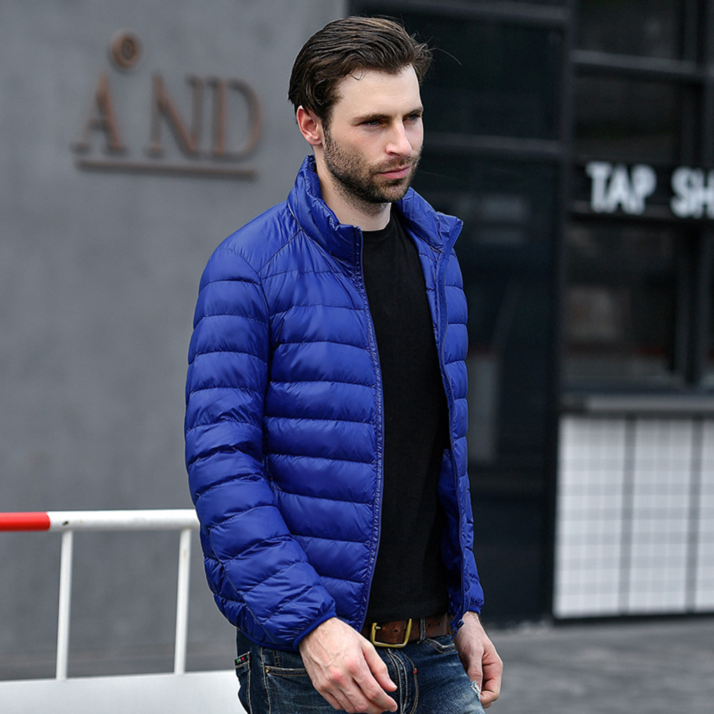 ca554ae1951 BOoDinerinle Winter Duck down jacket men 90% Down Content thin ultra light  down jacket winter coats pocket Plus size Coat YR029-in Down Jackets from  Men s ...