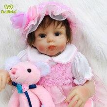 """Muñecas de bebé Reborn l. o l 20 """"50 cm cuerpo suave silicona vinilo muñecas juguetes para niños regalo muñeca bebé reborn realista chica princesa"""