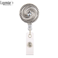 legenstar-wholesale-swirl-rhinestone-badge-reel-id-card-holder-round-badge-reels-retractor-with-belt-clip-for-business-staff