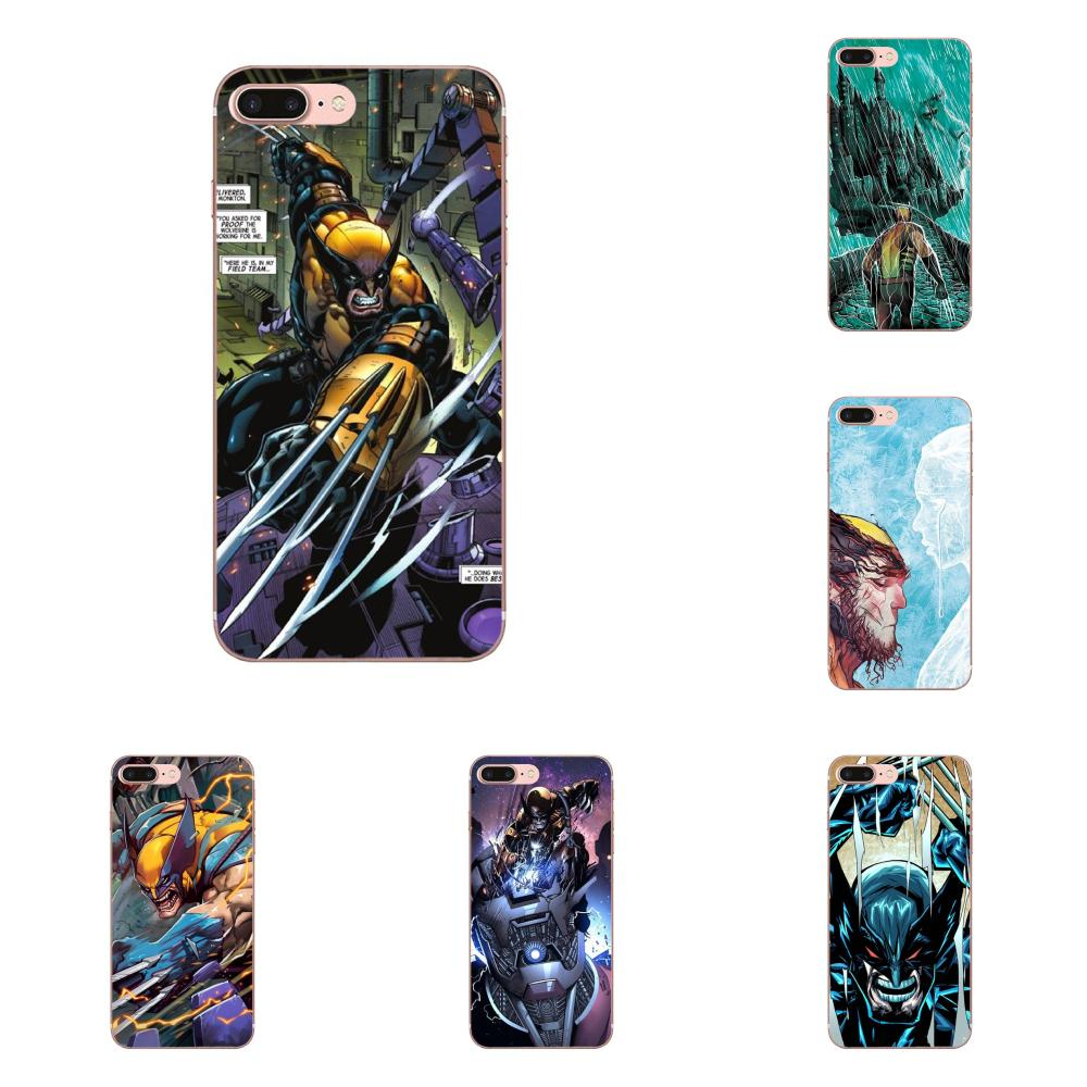 Soft TPU Retail New Fashion Marvel Comics Super Hero Wolverine For Xiaomi Redmi Mi Note 7 8 9 SE Pro Lite Go Play image