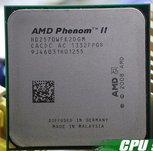 AMD Phenom II X2 570 CPU Processeur Dual-Core (3.5 Ghz/6 M/80 W/2000 GHz Socket am3 am2 + livraison gratuite 938 broches, vente 550 545