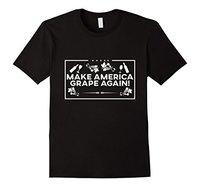 Fazer Uva Americana Novamente | Presente Do Amante do Vinho & T-Shirt para a Senhora Moda Karajuku Marca Feminina Engraçado Algodão Casual T camisa
