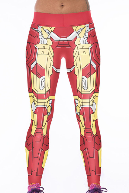 Red Woman Warrior Trendy 3D Print Leggings