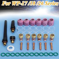 Hot Sale 40pcs TIG Welding Torch Collets Body Stubby Gas Lens Welding Machine Accessories Fit For