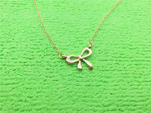 1PCS- N108 Fashion Bow Knot Necklace Choker Bowknot Necklace Butterfly Tied Ribbon Necklace Infinite Infinity Necklaces long blue ribbon choker necklace