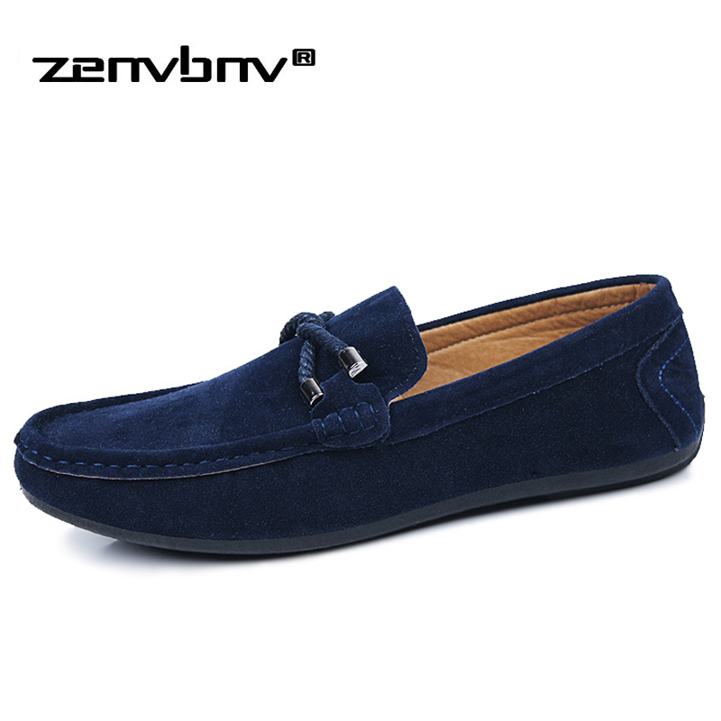 ZENVBNV Spring Men Loafers New Casual Shoes Slip On Fashion Male Footwear Drivers Loafer Flock Moccasins