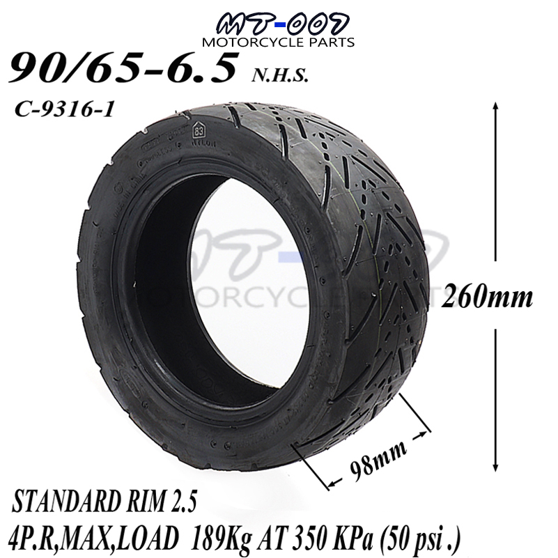 Front wheel 90/65 6.5 Tyres for 47cc/49cc 2 stoke air cooled Mini pocket bike Mini Motor Motor Wheel Spare Parts 47c 49cc