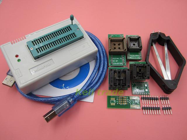 Envío Gratis 1KIT MiniPro TL866CS Prgrammer Universal USB Programador/Programa Bios 6 unids Adaptador SIN CAJA