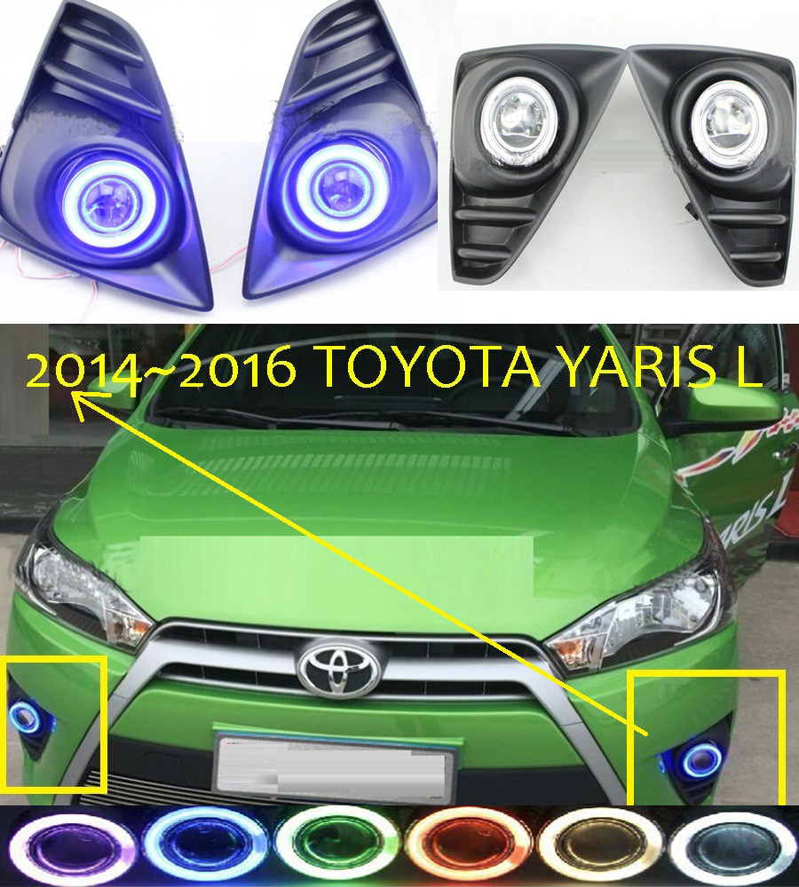Yaris fog light ,2014~2016;Free ship!Yaris daytime light,2ps/set+wire ON/OFF;optional:Halogen/HID XENON+Ballast,Yaris crosstour fog light led 2014 2016 free ship crosstour daytime light 2ps set wire on off halogen hid xenon ballast crosstour