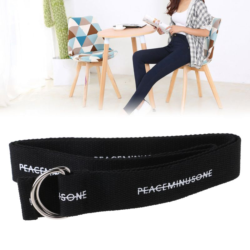 Hot Sale Waist Belt Canvas Nylon Fashion Adjustable Casual Trouser Jeans Buckle
