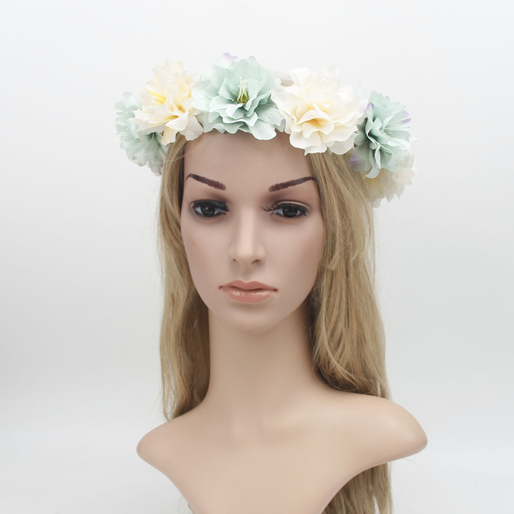 Aliexpress buy bride bohemian flower headband flower crown aliexpress buy bride bohemian flower headband flower crown wedding wreath hairband bridal floral garland summer beauty hair band for women from izmirmasajfo