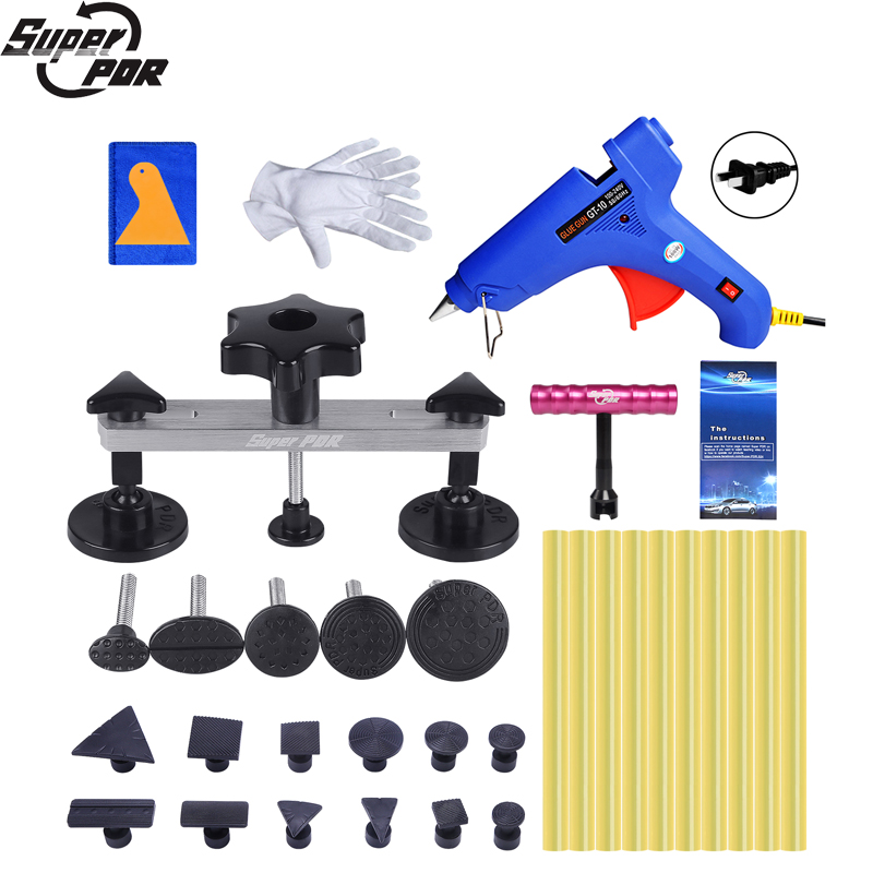 цена на Super PDR Tools Paintless Dent Repair Tools Auto Dent Pullers Suction Cup Hot Adhesive Glue Sticks For Hot Glue Gun Dent Removal