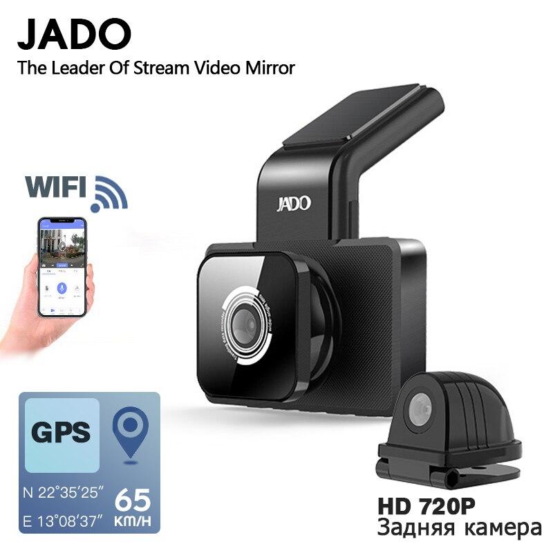 JADO D330 coche DVR Cámara WIFI velocidad N GPS coordenadas 1080P HD Visión Nocturna Dash Cam 24H aparcamiento monitor de cámara