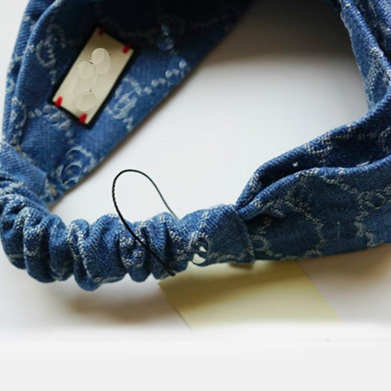 Bohemian Headwrap Boho Elastisk tjej Huvudband Blue Stretch Headband - Kläder tillbehör - Foto 5