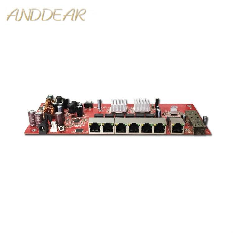 Module de commutateur industriel 9 ports gigabit SFP module de commutateur prise en charge AF/AT wifi pont commutateur de réseau extérieur cpe 1000 mbps