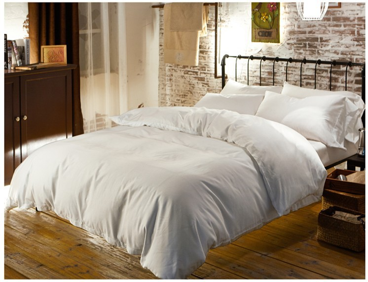 luxury 100 egyptian cotton bedding sets sheets queen white duvet cover king size double bed in a bag linen quilt doona bedsheet