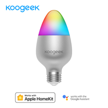 Koogeek E26 E27 8W dim Wifi ışık akıllı ev LED ampul 16 milyon renk için Apple HomeKit Siri uzaktan kontrol sadece IOS