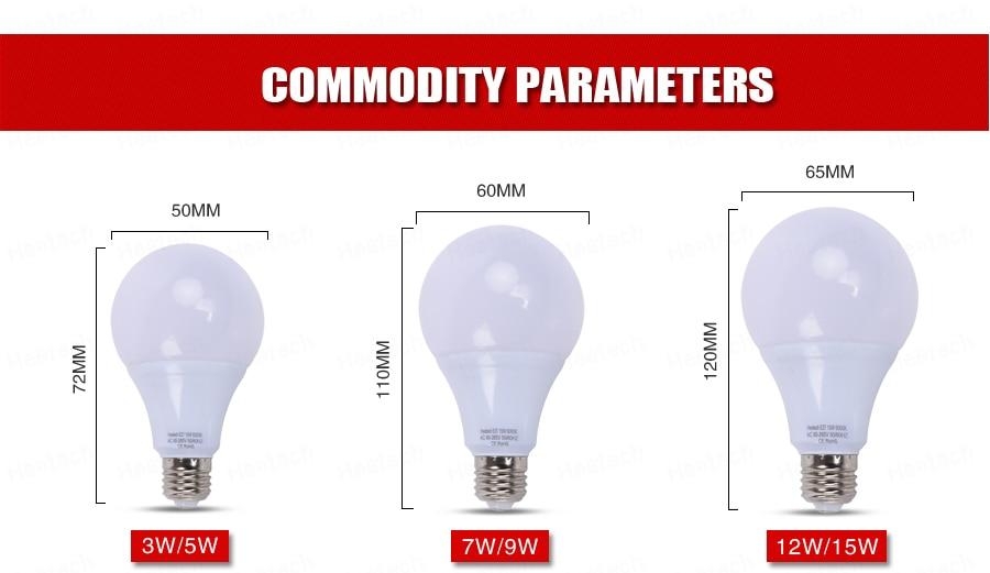 Купить с кэшбэком LED lamp SMD led E27 Light Bulb DC 12V 24V 36V 48V led bulb 3W 5W 7W 9W 12W 15W Cold Warm White Led Spotlight Lamps Lampada