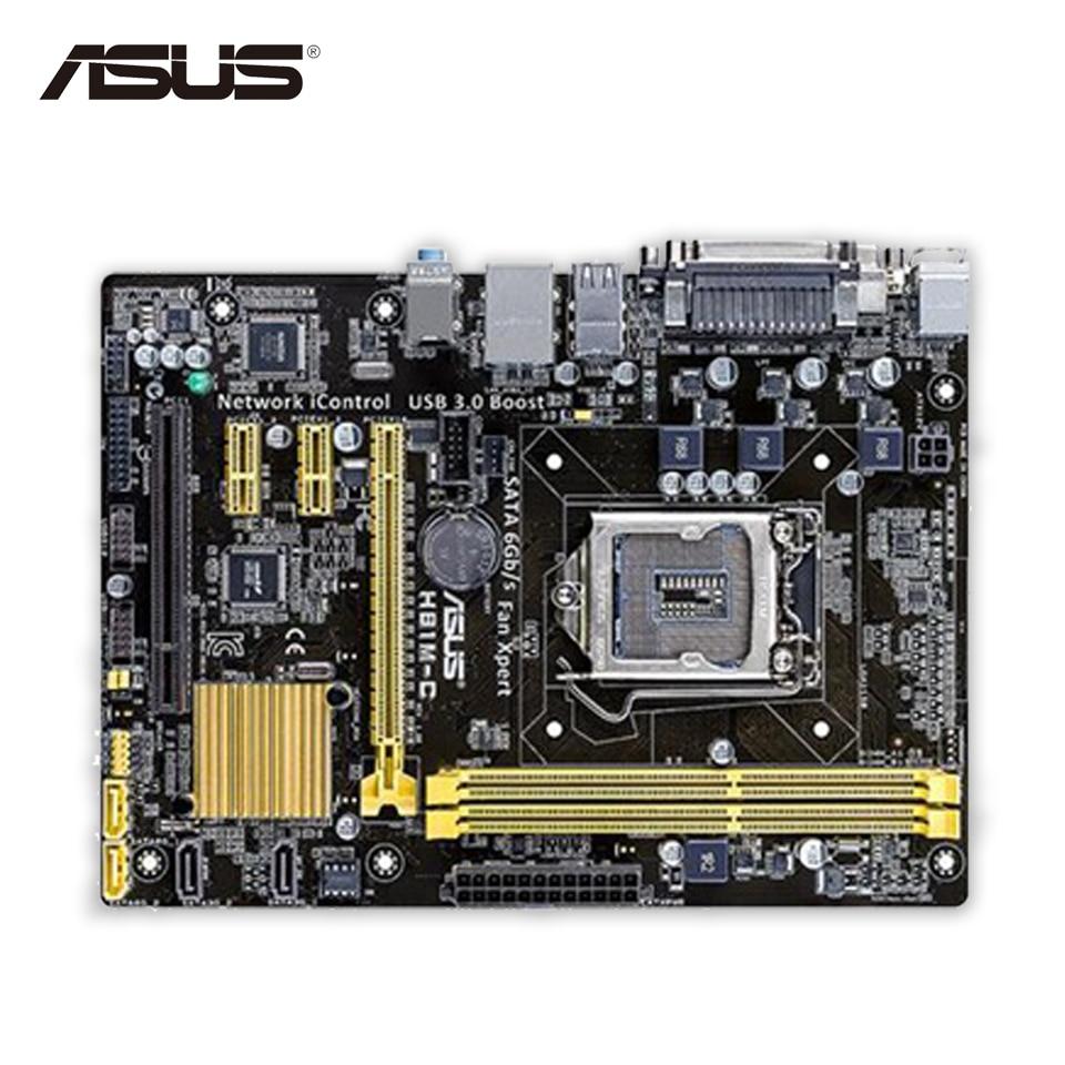 Asus H81M-C Desktop Motherboard H81 Socket LGA 1150 i7 i5 i3 DDR3 16G SATA3 USB3.0 Micro-ATX asus h81 plus desktop motherboard h81 socket lga 1150 i7 i5 i3 ddr3 16g sata3 ubs3 0 atx second hand high quality