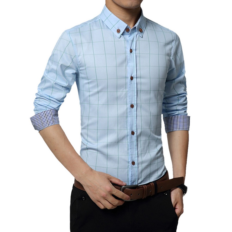Cotton Casual Men Shirt Social 1