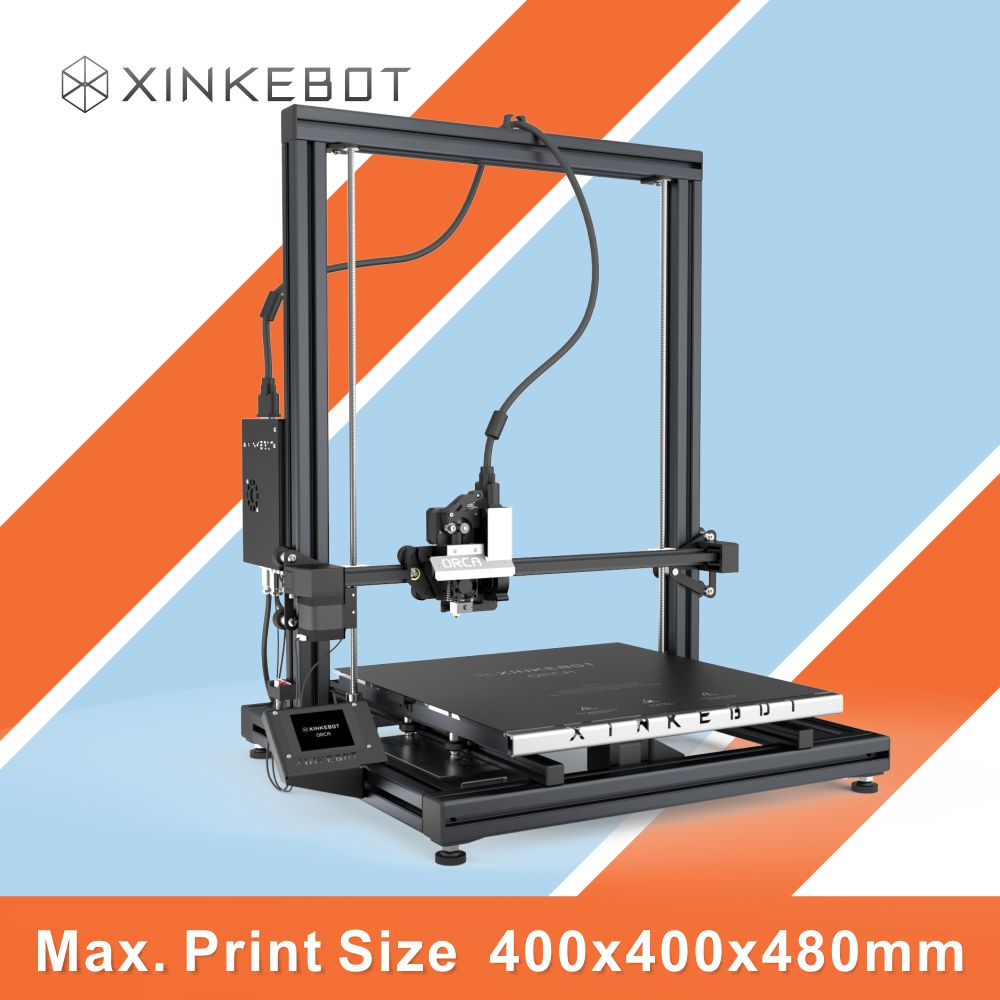 Factory Price XINKEBOT ORCA2 Cygnus 3D Printer Extreme Big BuildTak 400 400 480 Single Dual Extruder