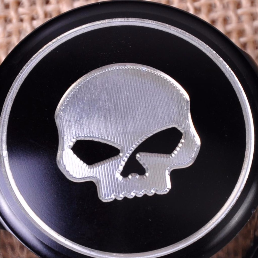 2pcs Skull Front Axle Cover Cap CNC Aluminum RC Nut Rough Crafts Rear Axle Nut Covers Bolt Kit For Harley Davidson VRSC XG XL