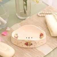 WSHYUFEI en céramique accessoires de salle de bains émulsion bouteille/savon plat peint à la main de haute qualité décorations pour la maison belle