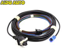 HIGH QUALITY For JETTA MK6 TIGUAN RGB Trunk Hand Rear View Reversing Camera harness Cable wire RCD510 RNS315 RNS510