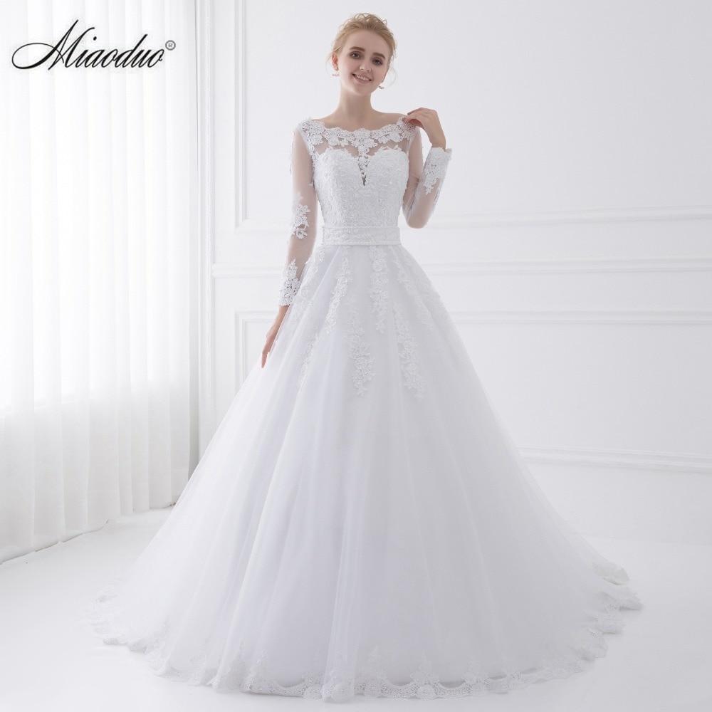 New arrival vestido de noiva 2017 long sleeve wedding for Aliexpress wedding dresses 2017