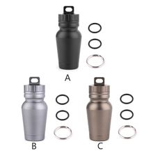New 1 Pc Portable Aluminum Alloy Waterproof Canister Outdoor Camping EDC Tool Seal Capsule Bottle for Travel 3 Colors
