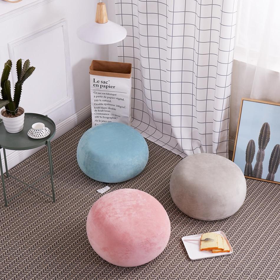 Круглый подушки кресла высокое качество погремушка для взрослых Спальня украшения пены подушки сиденья краткое Стиль ленивый диван сидени...