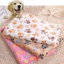 40x60 см милый цветочный домашний спальный теплый флисовый мягкий коврик для собак, кошек, щенков