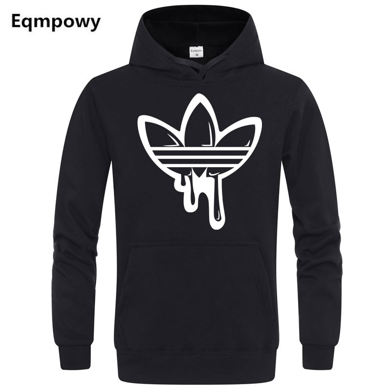 2018 Fashion funny Hoodies Long sleeves Hoody men Fashion doodle Print ADI jacket with hat men casual men