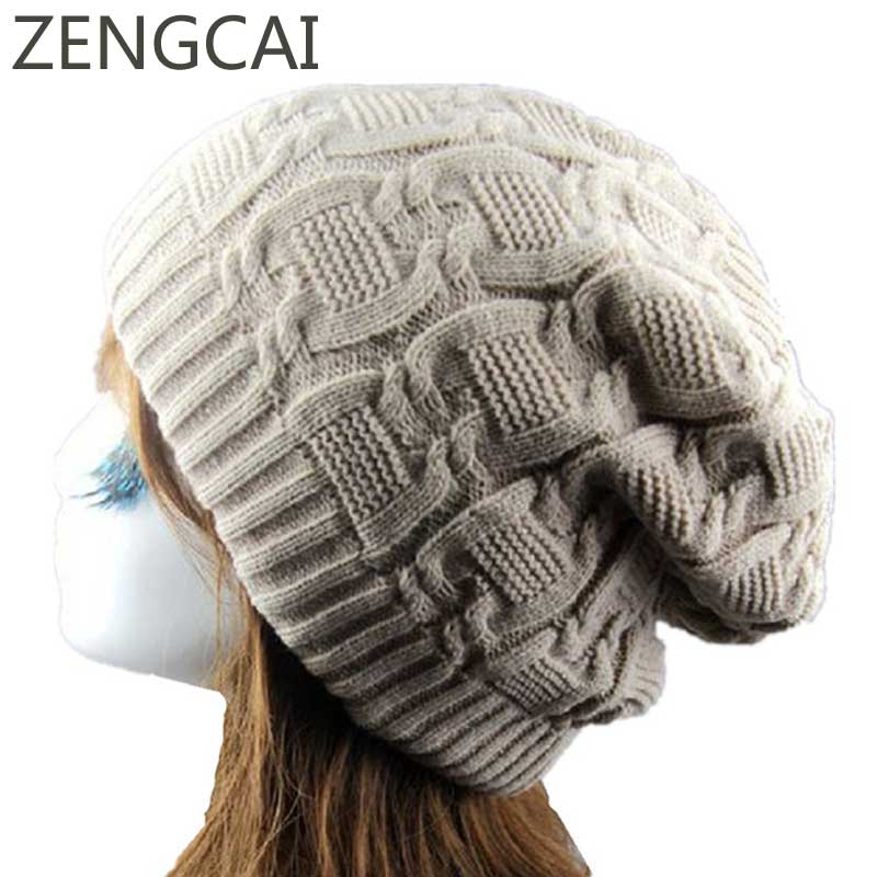 Winter Woolen Cap For Women Mens   Beanie   Hat Fashion Girls Crochet Braids Knitted Hats Casual Autumn Warm   Skullies     Beanies   Caps