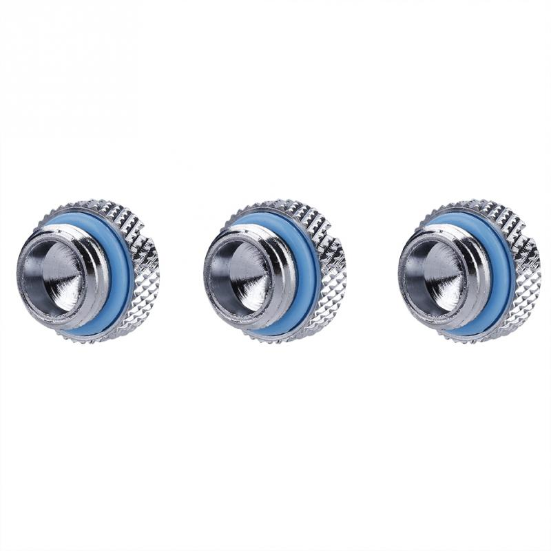 3PCS G14 2 Word Computer Thread Water Cooling Straight Stop Plug Fittings Stopper