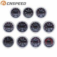 """CNSPEED """" 52 мм Автомобильный датчик наддува бар psi температура выхлопных газов температура воды температура масла пресс воздуха топлива Датчик вольтметр Тахометр"""